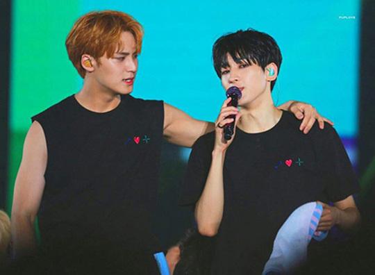 Seventeen sở hữu nhiều thành viên điển trai, trong đó tổ hợp visual tỏa sáng nhất là Min Gyu (trái) và Won Woo.
