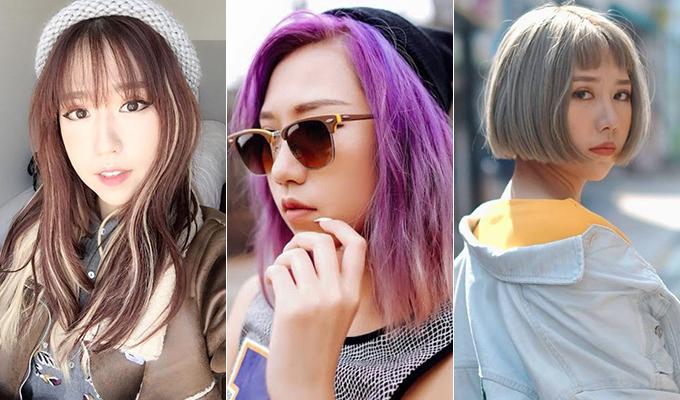 Mọi kiểu tóc từ tím, xám đến gẩy highlight đều hợp với gương mặt của giọng ca Đừng yêu nữa, em mệt rồi.