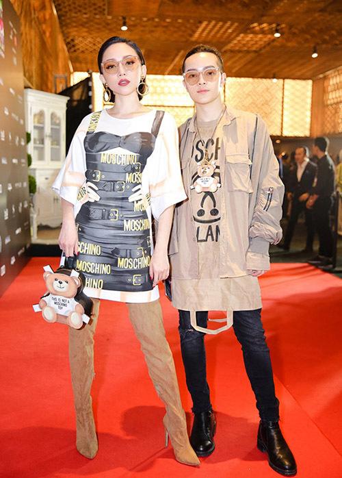Moschino - nhà mốt nổi tiếng với những item phá cách, nổi loạn nhưng cũng rất trẻ trung - là lựa chọn thường xuyên của Tóc Tiên cho các sự kiện thời trang.