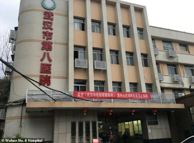 Bệnh viện số 8 Vũ Hán, nơi Wang Ping làm việc.