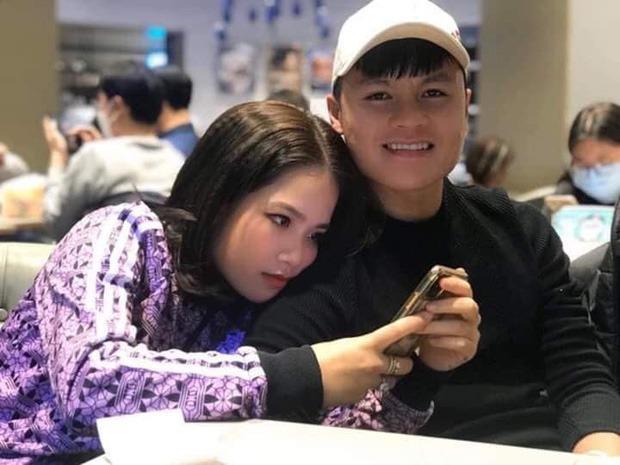 Quang Hải và bạn gái tin đồn Huyền My.