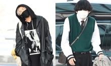 BTS mệt mỏi ra sân bay lên đường sang Mỹ