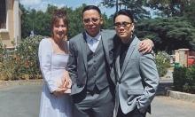 Vợ chồng Tóc Tiên tiệc tùng cùng nhóm bạn sau đám cưới