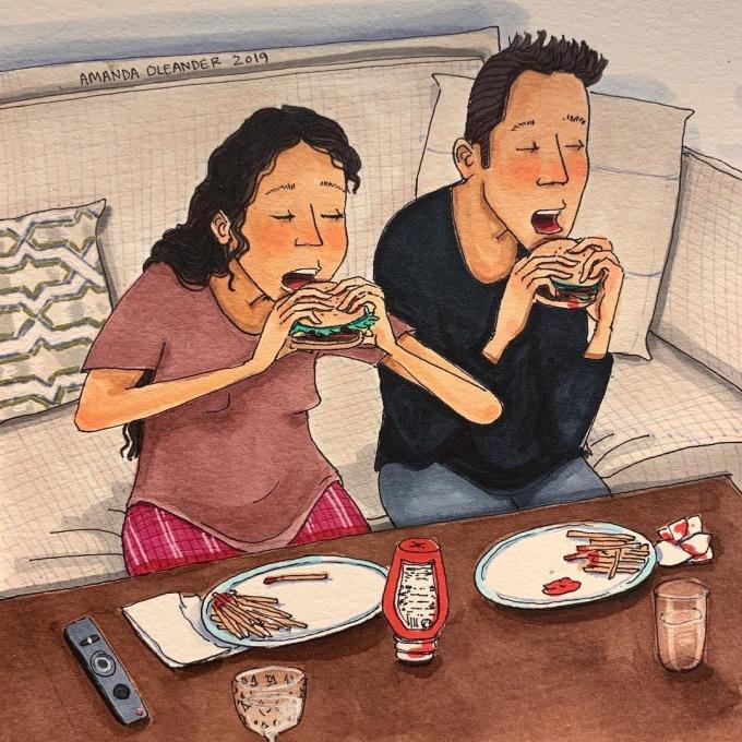 <p> Những điều nhỏ bé khi làm cùng nhau cũng trở nên có ý nghĩa. Một bữa ăn đơn giản ở nhà trở thành một buổi hẹn hò lãng mạn.</p>