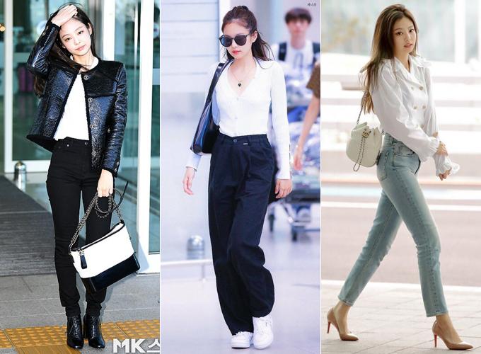 Trước đây, Jennie là trend-setter hàng đầu khi ra sân bay. Cô luôn xuất hiện với những món đồ đẳng cấp, chỉn chu, được nhiều tín đồ thời trang học hỏi.