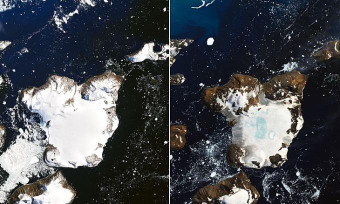 Nam Cực trước và sau đợt nắng nóng kỷ lục
