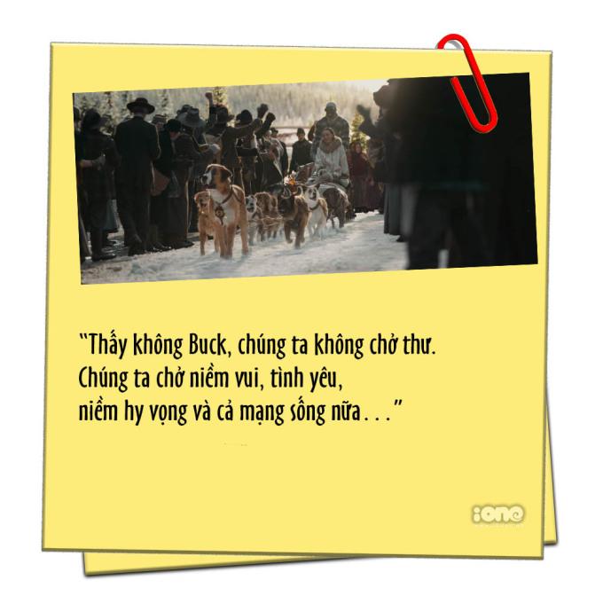 """<p> Đáp lại kỳ vọng của Perrault, Buck không chỉ thể hiện sức mạnh mà cậu còn cho thấy bản lĩnh khó tin. Buck dẫn cả đội vượt qua cơn tuyết lở và lần đầu tiên, Perrault và Francoise giao thư đúng hẹn trước sự chờ đón của bao nhiêu con người.</p> <p> Tận hưởng cảm giác thành công lần đầu tiên, người chủ da đen tâm sự với """"captain"""" đội chó kéo xe về ý nghĩa những bức thư và công việc của anh. Với Perrault, hành trình vài ngàn dặm mang những lá thư đến thị trấn nhỏ phương Bắc không chỉ là công việc mà đó còn là niềm tự hào và trách nhiệm nặng nề.</p> <p> Nếu ông già Noel mang những món quà vào ngày Giáng sinh, thì anh cùng đội chó cũng chở """"niềm vui, tình yêu, niềm hy vọng"""" đến những con người đơn côi ở vùng đất giá lạnh.</p>"""