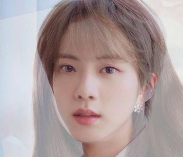 Ảnh ghép cho thấy sự hài hòa về đường nét của Ji Soo và Jin.