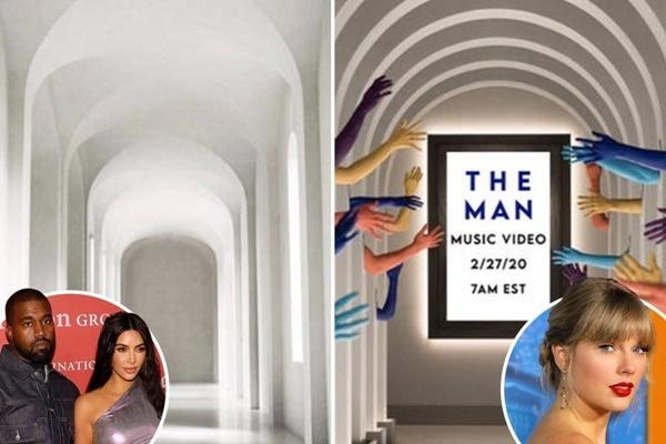 Fan cho rằng Kim - Kanye được bóng gió nhắc đến qua hình ảnh hành lang nhà cặp vợ chồng.