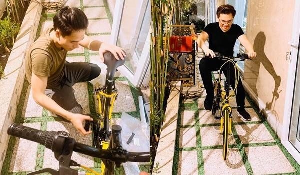 Võ Tấn Phát lắp ráp xe đạp cho Đại Nghĩa.