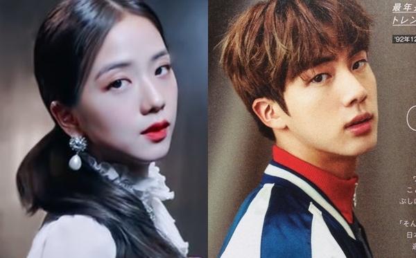 Gương mặt tương đồng của Ji Soo và Jin giống nhau trong nhiều góc độ, từ nhìn nghiêng...