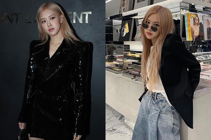 Không phải ngẫu nhiên mà Rosé được Saint Laurent lựa chọn là nàng thơ trong các fashion show gần đây. Thành viên Black Pink có gu ăn mặc cá tính, chuộng những item mang phong cách cổ điển nhưng vẫn rất ngầu.