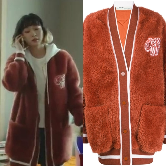 Chiếc cardigan màu cam này được Yi Seo mặc ở tập 6, có giá890 Euro (khoảng 23 triệu đồng). Chiếc áo nằm trong BST mới của hãng Off-White.