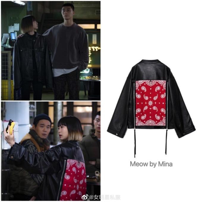 Mẫu áo khoác độc đáo của Meow By Mina có giá khoảng 12 triệu đồng.