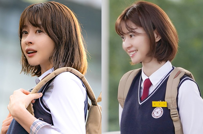 Nhan sắc ngây thơ của Soo Ah với mái tóc ngắn giúp cô trở thành crush của nam chính Park Sae Royi, tạo nên mối tình đơn phương suốt 10 năm sau đó.