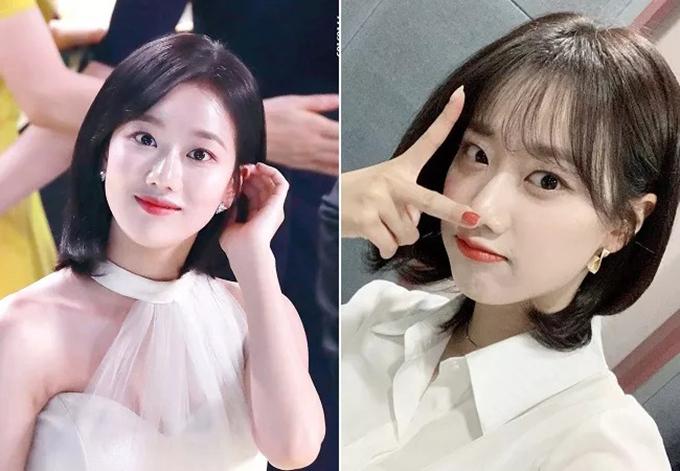Mái tóc ngắn giúp gương mặt xinh đẹp nhưng khá nhạt nhòa của Na Eun nổi bật hơn. Khi để mái dài, người đẹp trông thanh lịch, còn lúc cắt mái thưa, nhan sắc April trở nên trẻ trung, tinh nghịch.