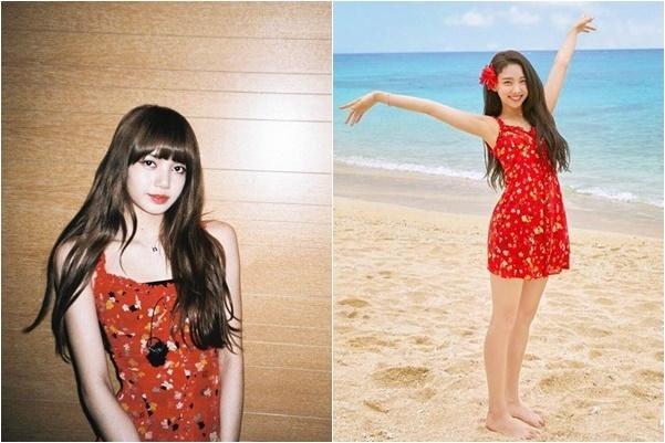 Váy liền in hoa đậm chất mùa hè của Lisa và Na Yeon được nhiều cô gái săn lùng vì quá dễ thương.