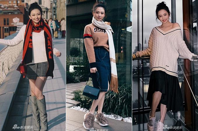 Thẩm Nguyệt thường xuyên khoe ảnh street style trong những chuyến vi vu khắp thế giới. Cô còn dự các sự kiện thời trang ở châu Âu. Gu ăn mặc của cô nàng được nhận xét trẻ trung, sang chảnh và dễ học hỏi.