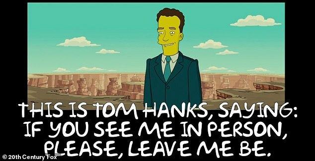 Phim hoạt hình tiên đoán đúng việc Tom Hanks bị cách ly
