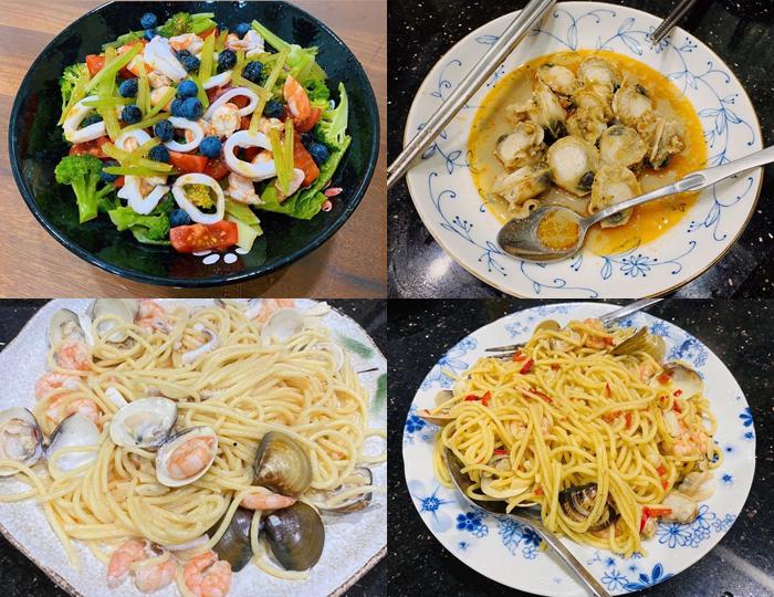 Tzuyu được bố mẹ chiêu đãi những món ngon nhà làm đủ sắc hương vị.