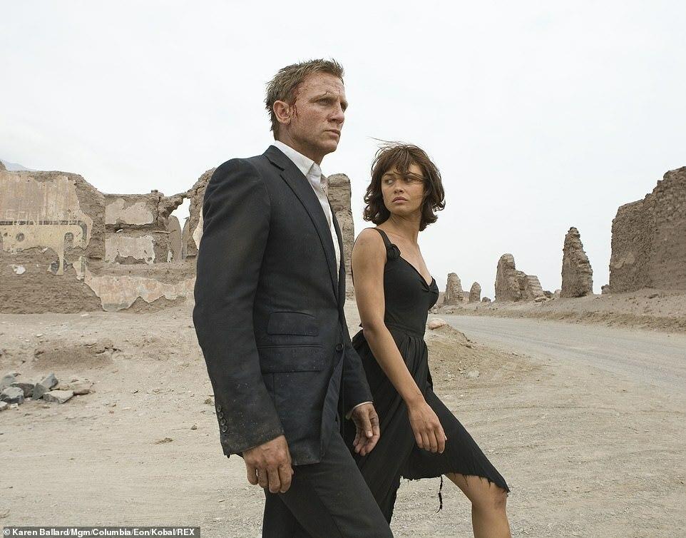 Kurylenko làm Bond Girl của Daniel Craige trong phim Quantum of Solace.