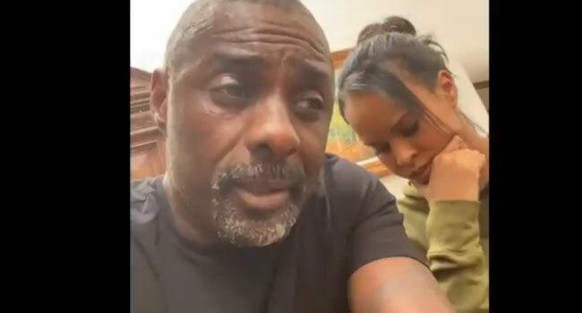 Elba và vợ trong video thông báo nhiễm bệnh.