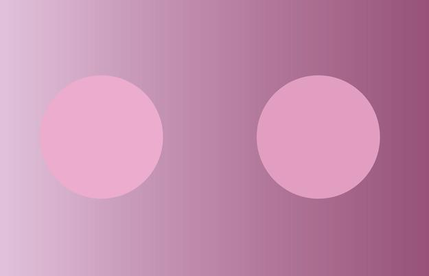 Hình tròn nào tối hơn?