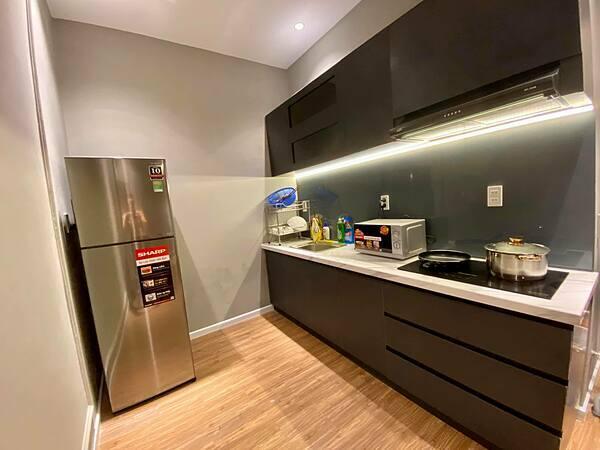 Phòng bếp nhỏ gọn,tiện nghi.