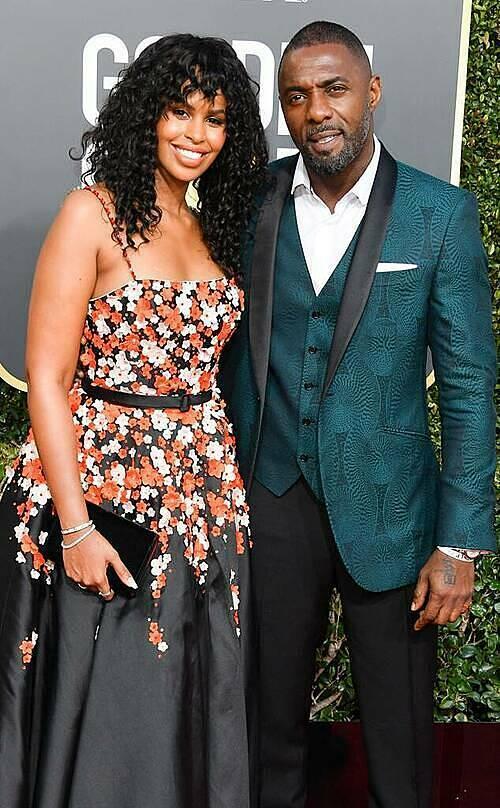 Vợ chồng Sabrina Dhowre và Idris Elba. Ảnh: WireImage.