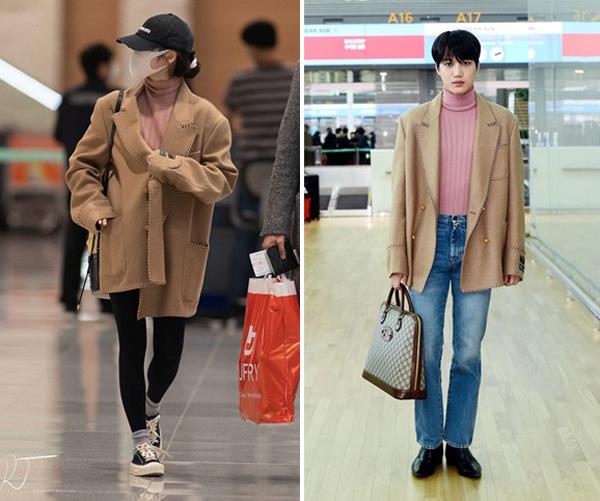 Style phi giới tính của Kai còn được cho là có sức hút hơn hẳn khi so sánh với nghệ sĩ nữ. Đơn cử là lần sang Milan dự show thời trang của Gucci 2020, Kai và IU cùng diện chung một mẫu trang phục: Áo len cổ lọ màu hồng, jean xanh và áo jacket màu camel. Kết quả, netizen nhất trí Kai đã làm tốt vai trò của đại sứ toàn cầu Gucci, lên đồ rất ổn, lại toát được thần thái bảnh bao, lấn át cả nữ nghệ sĩ IU.
