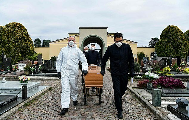 Một đám tang ở Italy. Ảnh: AFP.