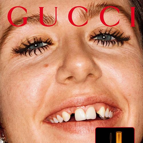 Quảng cáo Gucci tiếp tục gây tranh cãi vớimẫu răng sún, ố vàng