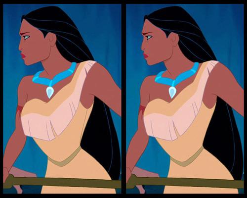 Tìm điểm khác biệt ở bộ váy của công chúa Disney