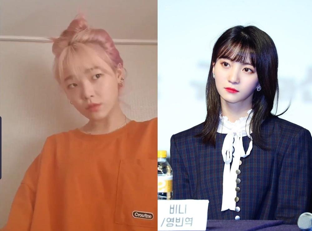 Để biến hóa thành cô nàng truyện tranh Binnie, Seung Hee nghiêng đầu và liếc nhìn sang, đảm bảo cho biểu cảm trông điềm tĩnh mà vẫn xinh đẹp.