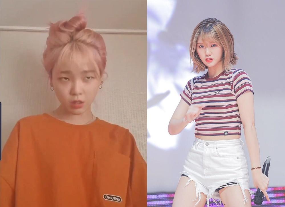 Hóa thân thành rapper Mi Mi, Seung Hee ngay lập tức nhếch khóe miệng và làm mắt hơi gườm. Đáng tiếc là gương mặt của cô nàng hơi bị... tấu hài nên tạo thành Mi Mi phiên bản lỗi.