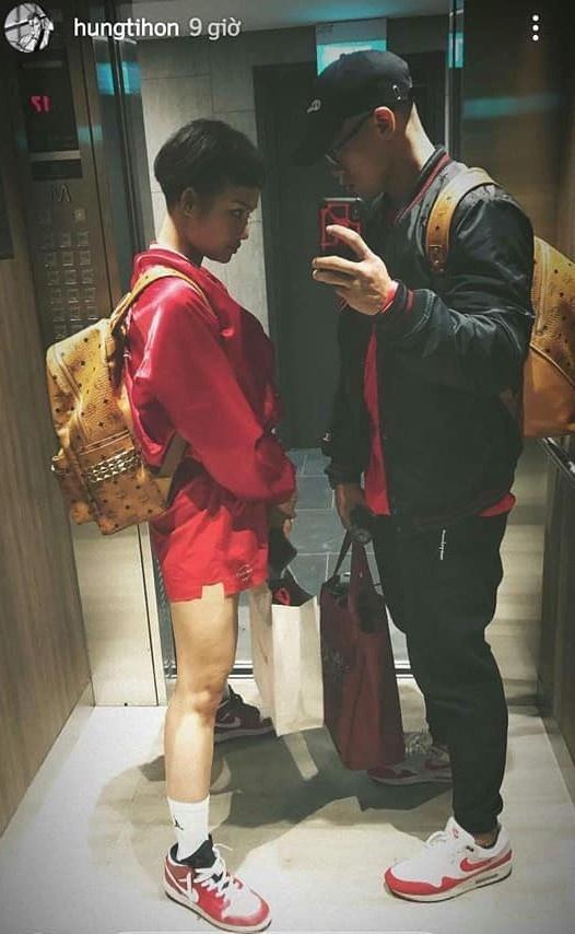 Miu Lê và bạn trai tin đồn.