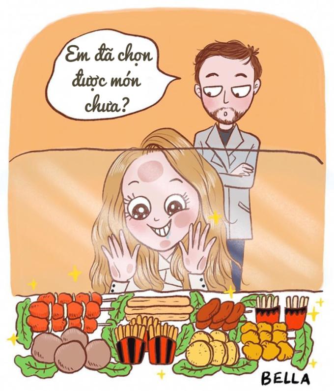<p>Họ luôn miệng nói phải giảm cân nhưng cứ nhìn thấy đồ ăn lại không thể kiềm chế.</p>