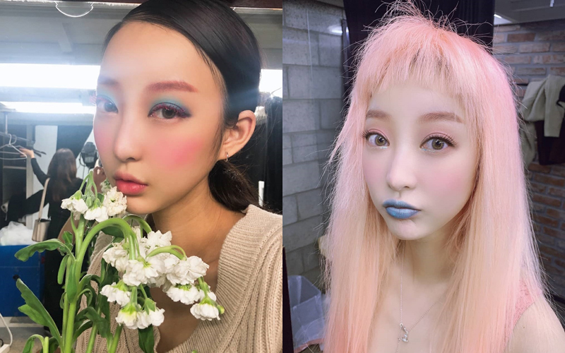 Hye Rin (EXID) biến hóa với kiểu makeup, làm tóc lạ lẫm khi chụp hình tạp chí.