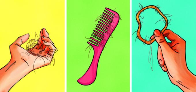 <p>Rụng tóc ở mọi lúc mọi nơi, trên bất kỳ dụng cụ chải tóc nào khiến các nàng khóc thét: Cứ rụng thế này, chẳng mấy mà hết sạch tóc trên đầu.</p>