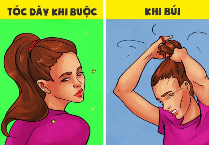 """<p>Có ai thấu hiểu nỗi khổ của nàng tóc dày nhưng lại """"ham hố"""" búi tóc cho sang chảnh?</p>"""