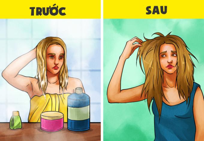 """<p>Mái tóc nhanh chóng bị bông xù sau mỗi lần gội đầu. Dù đã thử nhiều loại kem dưỡng thì tóc của bạn vẫn cứ """"trơ"""" ra.</p>"""