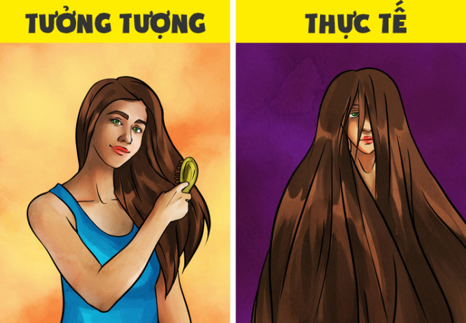 <p>Ai cũng nghĩ hội con gái thả tóc dài sẽ trông thật bồng bềnh, suôn mượt... và đây là thực tế.</p>