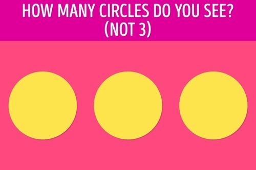 Bạn nhìn thấy bao nhiêu hình tròn? - 1