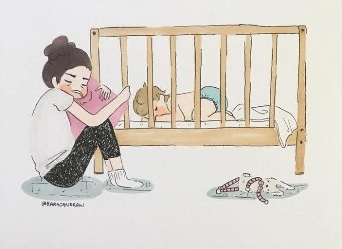 <p>Bạn sẽ chẳng thế biết bao đêm mẹ thức trắng để dỗ dành ai đó quấy khóc. Ai cũng thèm ngủ và mẹ cũng thế, nhưngvì bạn, mẹ chấp nhậnhy sinh tất cả.</p>