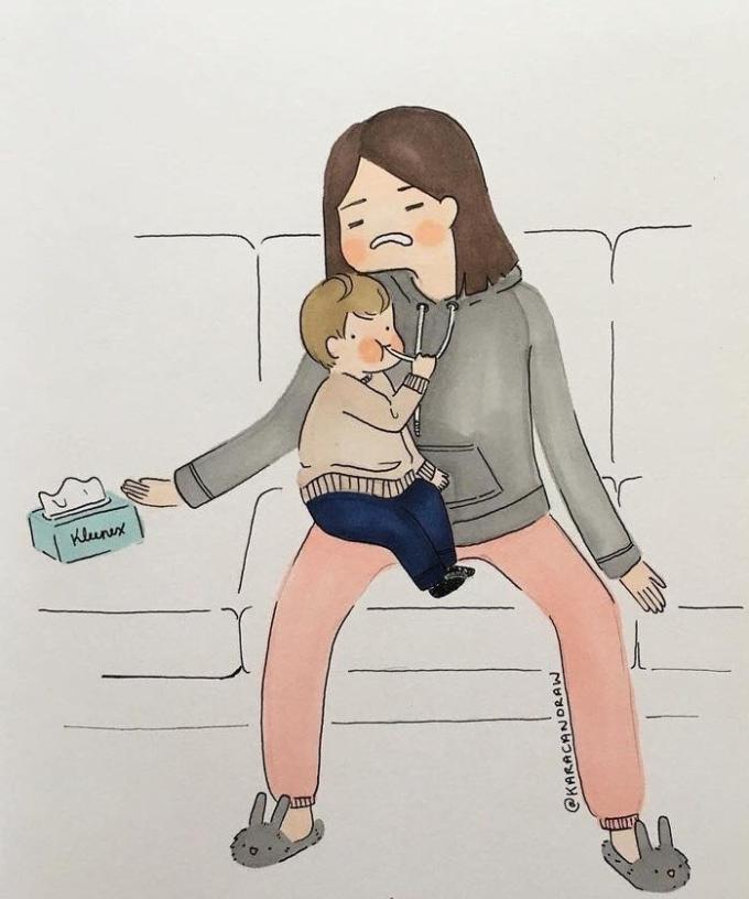 <p>Dù đôi khi mẹ cũng mệt mỏi và cần thời gian nghỉ ngơi trước sự hiếu động của bạn....</p>