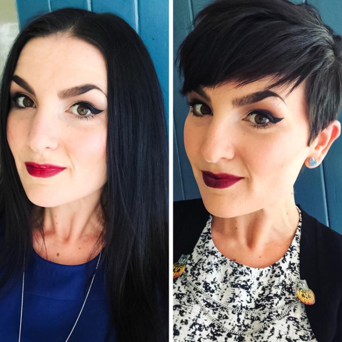 <p>Nếu thích phong cách trang điểm đậmhãythử cắt mái tóc tém vừa cá tính vừa lôi cuốn.</p>