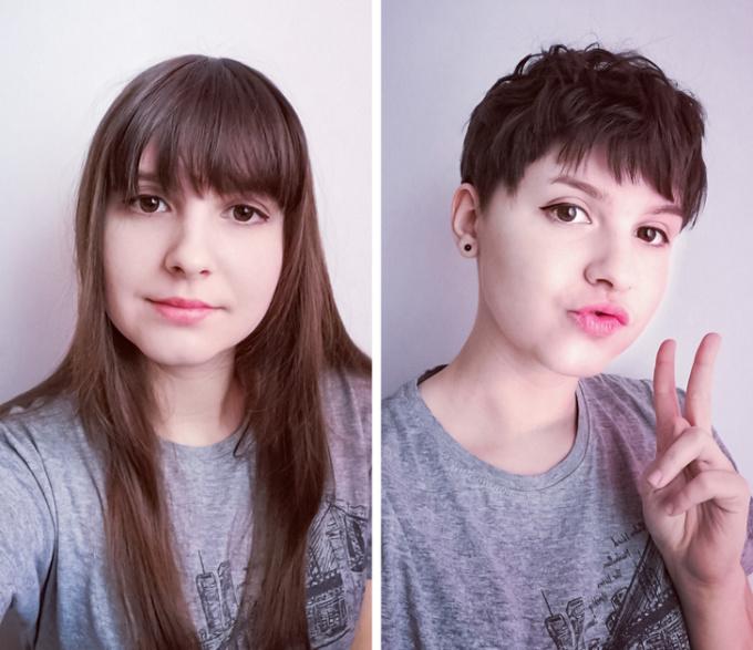 <p>Tóc mỏng, dài, không có độ phồng chỉ khiến gương mặt bạn to hơn, hãy thử tóc ngắncá tính xem sao nhé.</p>