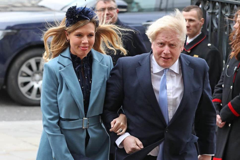 Thủ tướng Anh và bạn gái trong một sự kiện hồi tháng 3. Ảnh: PA.