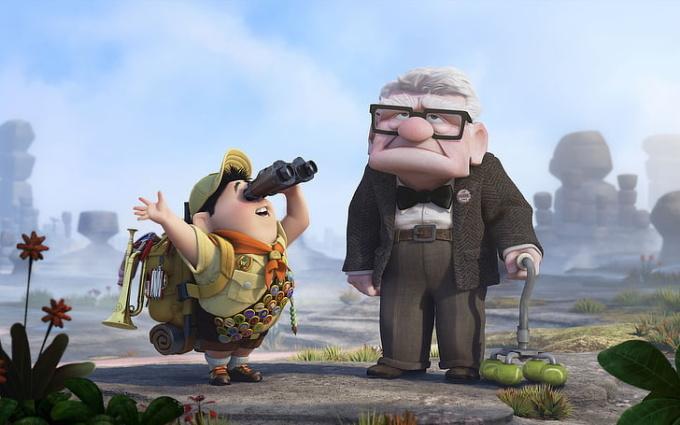 <p>Theo các nhà làm phim <em>Up</em>, mặt ông lão Carl trông vuông vức vì ông quá cứng đầu và luôn cô lập trong chính ngôi nhà của mình.</p>