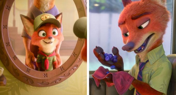 <p>Trong <em>Zootopia</em>, Nick vẫn giữ chiếc khăn tay từ bộ đồng phục hướng đạo sinh hồi bé.</p>